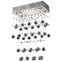 Elegant Lighting Galaxy 4 Light Dining Chandelier in Chrome with Royal Cut Clear Crystal 2021D16C/RC