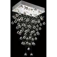 Elegant Lighting Galaxy 6 Light Dining Chandelier in Chrome with Swarovski Strass Clear Crystal 2021D20C/SS alternative photo thumbnail