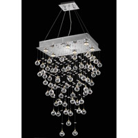 Elegant Lighting Galaxy 6 Light Dining Chandelier in Chrome with Royal Cut Clear Crystal 2021D20C(LED)/RC