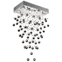 Elegant Lighting Galaxy 6 Light Dining Chandelier in Chrome with Swarovski Strass Clear Crystal 2021D20C/SS photo thumbnail