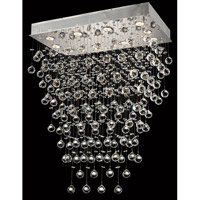 Elegant Lighting Galaxy 10 Light Dining Chandelier in Chrome with Swarovski Strass Clear Crystal 2021D28C/SS alternative photo thumbnail