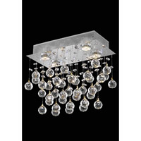 Elegant Lighting Galaxy 4 Light Flush Mount in Chrome with Swarovski Strass Clear Crystal 2021F16C(LED)/SS