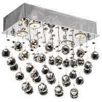 Elegant Lighting Galaxy 4 Light Flush Mount in Chrome with Swarovski Strass Clear Crystal 2021F16C/SS