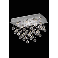 Elegant Lighting Galaxy 6 Light Flush Mount in Chrome with Elegant Cut Clear Crystal 2021F20C(LED)/EC