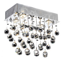 Elegant Lighting Galaxy 6 Light Flush Mount in Chrome with Swarovski Strass Clear Crystal 2021F20C/SS