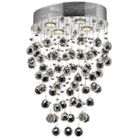 Elegant Lighting Galaxy 4 Light Dining Chandelier in Chrome with Elegant Cut Clear Crystal 2022D16C/EC photo thumbnail