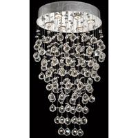 Elegant Lighting V2022D20C/SS Galaxy 6 Light 14 inch Chrome Dining Chandelier Ceiling Light in Swarovski Strass alternative photo thumbnail
