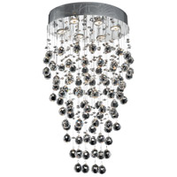 Galaxy 6 Light 14 inch Chrome Dining Chandelier Ceiling Light in Royal Cut