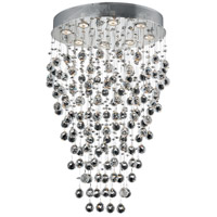 Galaxy 8 Light 16 inch Chrome Dining Chandelier Ceiling Light in Elegant Cut