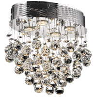 Elegant Lighting Galaxy 4 Light Flush Mount in Chrome with Swarovski Strass Clear Crystal 2022F16C/SS