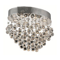 Elegant Lighting 2022F20C/SA Galaxy 6 Light 14 inch Chrome Flush Mount Ceiling Light in Spectra Swarovski alternative photo thumbnail
