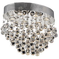 Galaxy 6 Light 14 inch Chrome Flush Mount Ceiling Light in Swarovski Strass