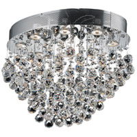Elegant Lighting Galaxy 8 Light Flush Mount in Chrome with Swarovski Strass Clear Crystal 2022F24C/SS