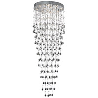 Elegant Lighting Galaxy 12 Light Foyer in Chrome with Royal Cut Clear Crystal 2022G28C/RC