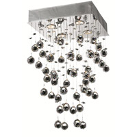 Elegant Lighting Galaxy 4 Light Pendant in Chrome with Royal Cut Clear Crystal 2023D14C/RC