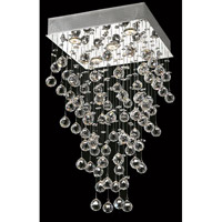 Elegant Lighting Galaxy 5 Light Dining Chandelier in Chrome with Royal Cut Clear Crystal 2023D16C/RC alternative photo thumbnail