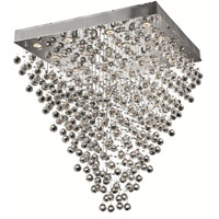Elegant Lighting Galaxy 16 Light Dining Chandelier in Chrome with Swarovski Strass Clear Crystal 2023D32C/SS