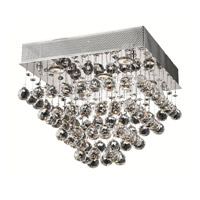 Elegant Lighting Galaxy 5 Light Flush Mount in Chrome with Swarovski Strass Clear Crystal 2023F16C/SS