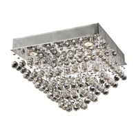 Elegant Lighting Galaxy 5 Light Flush Mount in Chrome with Spectra Swarovski Clear Crystal 2023F20C/SA