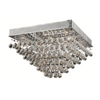 Elegant Lighting Galaxy 8 Light Flush Mount in Chrome with Elegant Cut Clear Crystal 2023F24C/EC