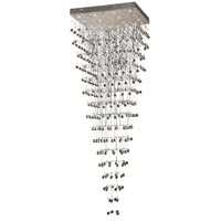 Elegant Lighting Galaxy 16 Light Foyer in Chrome with Elegant Cut Clear Crystal 2023G32C/EC