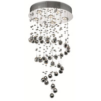 Elegant Lighting 2024D18C/SA Galaxy 6 Light 18 inch Chrome Dining Chandelier Ceiling Light in GU10, Clear, Spectra Swarovski alternative photo thumbnail