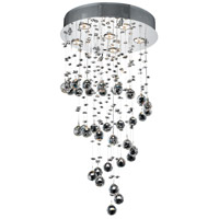 Elegant Lighting 2024D18C/SA Galaxy 6 Light 18 inch Chrome Dining Chandelier Ceiling Light in GU10, Clear, Spectra Swarovski photo thumbnail