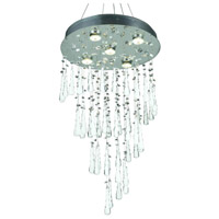 Comet 10 Light 24 inch Chrome Dining Chandelier Ceiling Light in GU10, Clear and White Prism Drops, Royal Cut