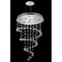 Elegant Lighting Galaxy 10 Light Dining Chandelier in Chrome with Elegant Cut Clear Crystal 2024D24C(LED)/EC