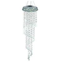 Elegant Lighting Comet 10 Light Foyer in Chrome with Royal Cut Clear Crystal and White Prism Drops 2024G24C-GLW/RC