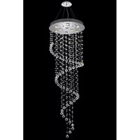 Galaxy 10 Light 24 inch Chrome Foyer Ceiling Light in LED, Clear, Elegant Cut
