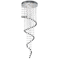 Elegant Lighting Galaxy 10 Light Foyer in Chrome with Elegant Cut Clear Crystal 2024G24C/EC