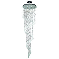 Elegant Lighting Comet 12 Light Foyer in Chrome with Royal Cut Clear Crystal and White Prism Drops 2024G28C-GLW/RC