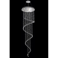 Elegant Lighting Galaxy 12 Light Foyer in Chrome with Spectra Swarovski Clear Crystal 2024G28C(LED)/SA