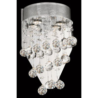 Elegant Lighting Galaxy 2 Light Wall Sconce in Chrome with Spectra Swarovski Clear Crystal 2024W12C/SA alternative photo thumbnail