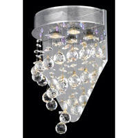 Elegant Lighting Galaxy 2 Light Wall Sconce in Chrome with Swarovski Strass Clear Crystal 2024W12C(LED)/SS