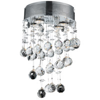 Elegant Lighting Galaxy 2 Light Wall Sconce in Chrome with Swarovski Strass Clear Crystal 2024W12C/SS