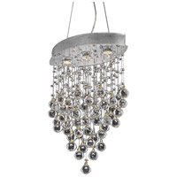 Elegant Lighting V2025D18C/SS Galaxy 3 Light 10 inch Chrome Dining Chandelier Ceiling Light in Swarovski Strass