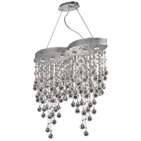Elegant Lighting V2025D33C/SS Galaxy 6 Light 10 inch Chrome Dining Chandelier Ceiling Light in Swarovski Strass