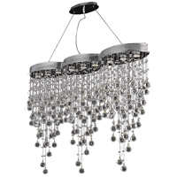 Elegant Lighting Galaxy 9 Light Dining Chandelier in Chrome with Swarovski Strass Clear Crystal 2025D48C/SS