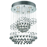 Elegant Lighting Galaxy 4 Light Chandelier in Chrome with Strass Swarovski Clear Crystals 2026D18C/SS