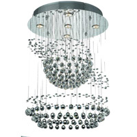 Elegant Lighting Galaxy 5 Light Chandelier in Chrome with Strass Swarovski Clear Crystals 2026D22C/SS