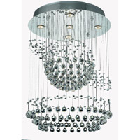 Elegant Lighting Galaxy 7 Light Chandelier in Chrome with Strass Swarovski Clear Crystals 2026D26C/SS