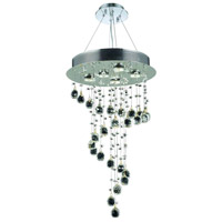 Galaxy 5 Light 16 inch Chrome Dining Chandelier Ceiling Light in Clear