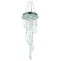 Comet 5 Light 16 inch Chrome Foyer Ceiling Light in Clear and White Prism Drops