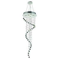 Elegant Lighting Galaxy 5 Light Foyer in Chrome with Royal Cut Clear Crystal 2028G48C/RC