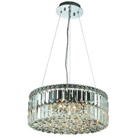 Elegant Lighting Maxim 12 Light Dining Chandelier in Chrome with Royal Cut Clear Crystal 2030D20C/RC