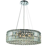 Elegant Lighting Maxim 12 Light Dining Chandelier in Chrome with Swarovski Strass Clear Crystal 2030D24C/SS alternative photo thumbnail