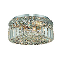 Elegant Lighting V2030F12C/SS Maxime 4 Light 12 inch Chrome Flush Mount Ceiling Light in Swarovski Strass alternative photo thumbnail