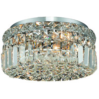 Maxim 4 Light 12 inch Chrome Flush Mount Ceiling Light in Swarovski Strass